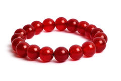 Red of agate, jasper bracelet lucky stone Stock Photo