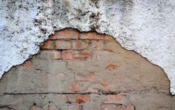 Red aged brick wall Stock Photo