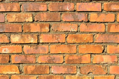 A Red aged brick wall Royalty Free Stock Image
