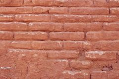 Red aged brick wall texture Stock Photos