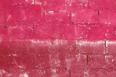 Red aged colored bricks Royalty Free Stock Photo