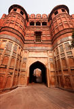Red Agra ford main entrance, India Stock Photography