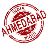 Red Ahmedabad stamp Royalty Free Stock Photos