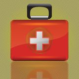 Red aid box. Colorful illustration with red aid box  for your design Royalty Free Stock Photos