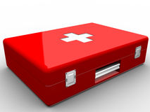 Red aid kit. On white background Stock Image