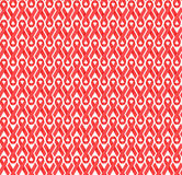 Red AIDS awareness satin ribbon vector background. Red satin AIDS/HIV awareness ribbons seamless vector background over white Royalty Free Stock Photo