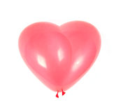 Red air balloon. As heart. Red air balloon. Isolated over white Royalty Free Stock Image