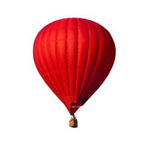 Red air balloon isolated on white Stock Photos