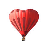 Red air balloon in the shape of a heart isolated on a white background Stock Photo