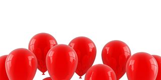 Red air balloons Royalty Free Stock Photography