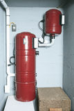 An red air cleaner system at home Stock Photos