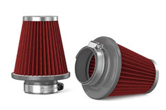 Red air filter for car Royalty Free Stock Photos