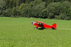 Red aircraft Royalty Free Stock Image