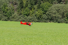Red aircraft Royalty Free Stock Photo