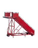 Red aircraft passenger stair. Royalty Free Stock Photography