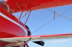 Red aircraft plane Stock Images