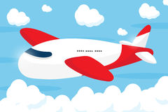 Red airliner cartoon design Stock Photography