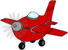 Red Airplane Stock Photo