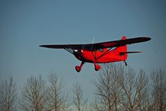 Red Airplane. Landing at Harvey Air field in Snohomish, WA Stock Photography