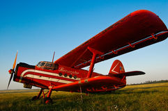 Red airplane Stock Images