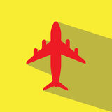 Red airplane  icon Stock Images