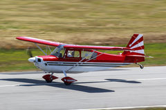 Red airplane Stock Image