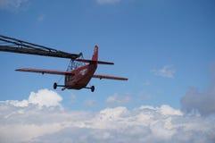 Red airplane of Tibidabo Royalty Free Stock Photos