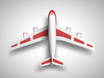 Red airplane top view Stock Photos