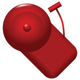 Red alarm bell. With alarm calls. Vector illustration Stock Photography