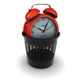 Red Alarm in the black bin Royalty Free Stock Photo