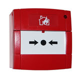 Red alarm button Stock Images