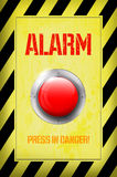 Red ALARM button Royalty Free Stock Images