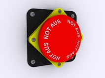 Red alarm button. On white background Royalty Free Stock Photo