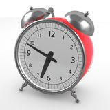 Red alarm clock Stock Photography