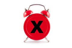 Red Alarm Clock Royalty Free Stock Photos