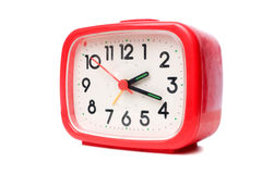 Red alarm clock Stock Image