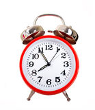 Red Alarm Clock Royalty Free Stock Photo