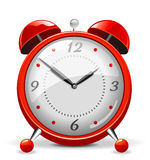 Red alarm clock Stock Photo