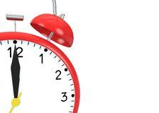 Red alarm clock on an  background Royalty Free Stock Photos