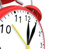 Red alarm clock on an  background Stock Image