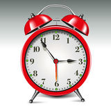 Red alarm clock Royalty Free Stock Images