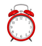 Red Alarm Clock with Blank Space Royalty Free Stock Image