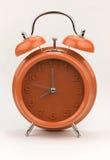 Red alarm clock, close up. Stock Photos