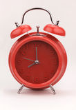 Red alarm clock, close up image Royalty Free Stock Images