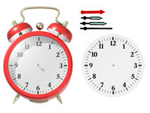 Red alarm clock. 3d render. Put yourself time Royalty Free Stock Photo