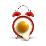 Red alarm clock egg Stock Photo