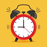 Red alarm clock icon. Vector illustration royalty free illustration