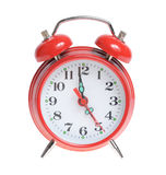 Red alarm clock isolated Royalty Free Stock Image
