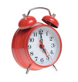 Red alarm clock isolated Royalty Free Stock Photo