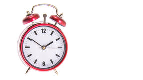 Red Alarm Clock. Isolated Royalty Free Stock Images